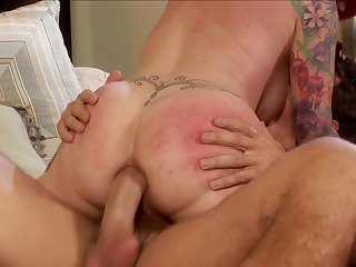 Redhead Manuel Ferrera gets her pussy hole destroyed by rock hard rod of hot dude
