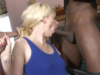 Blonde Courtney Taylor exposes her body parts while getting her sweet hammered good and hard by Jon Jon after she takes it in her butthole
