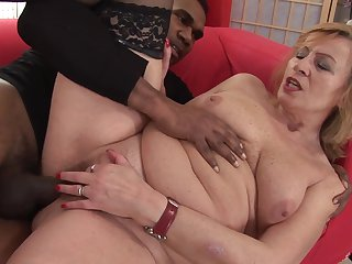 Blonde can't live a day without getting fucked by hard cocked dude in interracial porn action