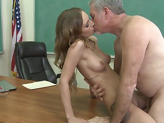 Teen and hard dicked guy have a lot of sexual energy to spend
