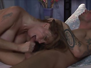 Joey Brass fucks alluring Darla Crane's beautiful face with his worm