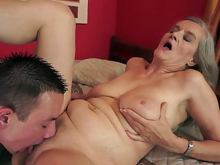 With big knockers can't resist guys throbbing love wand and takes it in her mouth