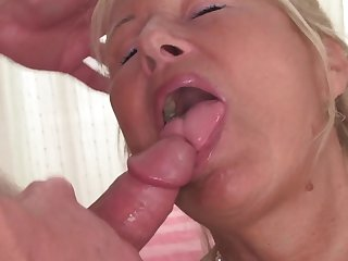 Blonde wench satisfies her sexual needs and desires