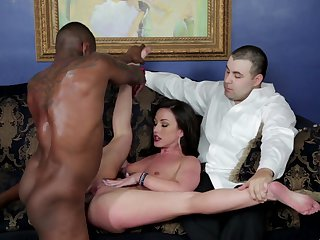 Brunette Jennifer White turns Jon Jon on to the point of no return and takes his dick in her mouth