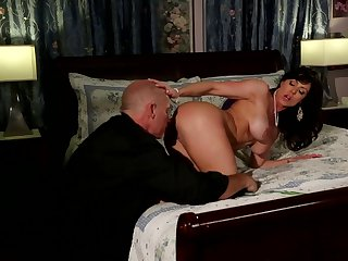 Mark Davis touches the hottest parts of saucy Kendra May Lust's body before he bangs her mouth