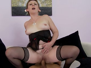 Redhead with phat booty is a cumshot addict