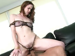 Hairy slut Sammy Grand gets fucked wearing tiny panties