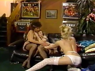 Vintage lingerie group sex