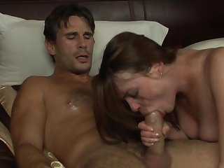 Brunette Victoria Snow gets turned on then rammed by man's rock solid schlong
